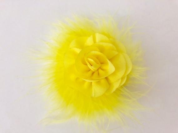 Sunflower Hair Clip, Blossom Chiffon Flower Clips, Yellow Hair Clip,Ivory Hair Clip,White Flower Clip,Red Hair Clip, Baby Girl Hair Clips