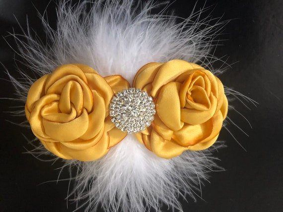 Gold Hair Clip, Floral Gold Mustard Flower Clip, Deep Yellow Hair Clip, Floral Gold Hair Clip, Yellow Gold Flower Hair Clip, Wedding Floral