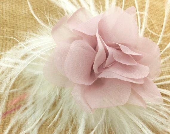 Spring Floral Hair Clip, Blush Flower Hair Clip, Pale Pink Clip, Lilac Flower Hair Clip, Mint Flower Girl Hair Clip, Easter Flower Clip