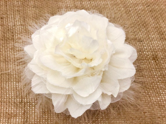 Wedding Hair Flower Clips, Bridal White, Ivory, Dusty Rose Pink Floral Hair Clips, Flower Girl Clips,Easter Flower Clips, Derby Fascinator