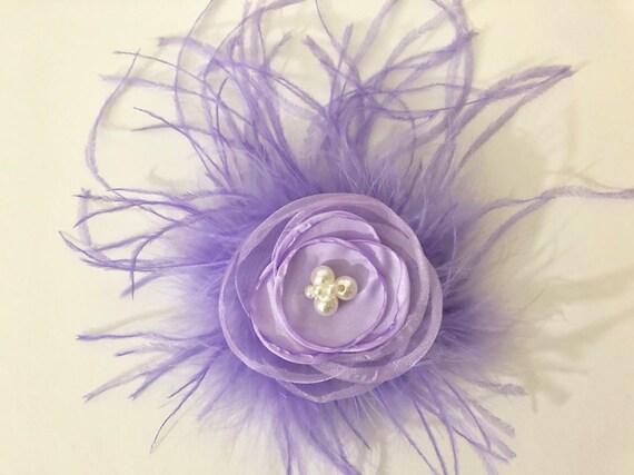 Lilac Lavender Flower Clip, Floral Hair Clip, Flower Girl Hair clip, Bridal Hair Clip, Baby Flower Clip,