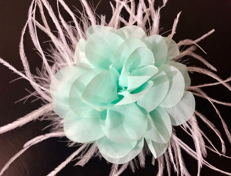 Wedding Floral Hair Clip Pale Pink Clip Mint Flower Girl Hair Clip Blush Flower Hair Clip Lilac Flower Hair Clip Easter Flower Clip