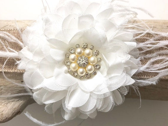 Fascinator, Wedding Fascinator, Bridal Hair piece, Bridal Flower Clip, Flower Girl Clip, Wedding Hair Accessories, Custom made  Hair piece