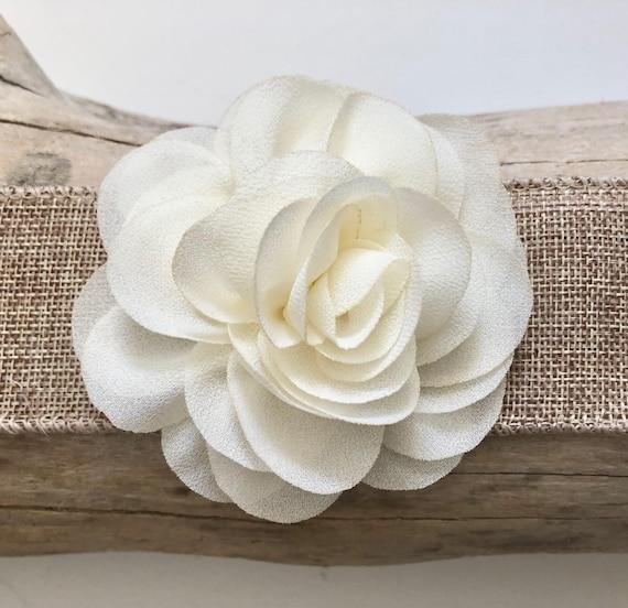Ivory Flower clip, Flower Hair Clip, Holiday Clip, Flower Girl Clip, Rose Pink  Clip, Peach Clip, Dusty Pink Flower clip, Bridal Hair Clip,