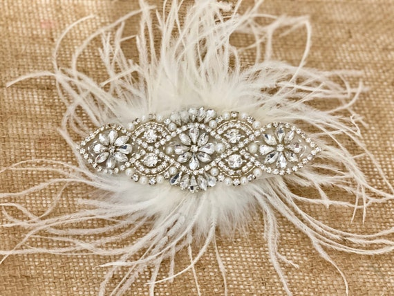 Wedding Headpiece, Vintage Wedding Hair piece, 1920's Great Gatsby Hairpiece, Crystal Pearl Hair Comb, Wedding Hair Combs,Bridal Hair Comb