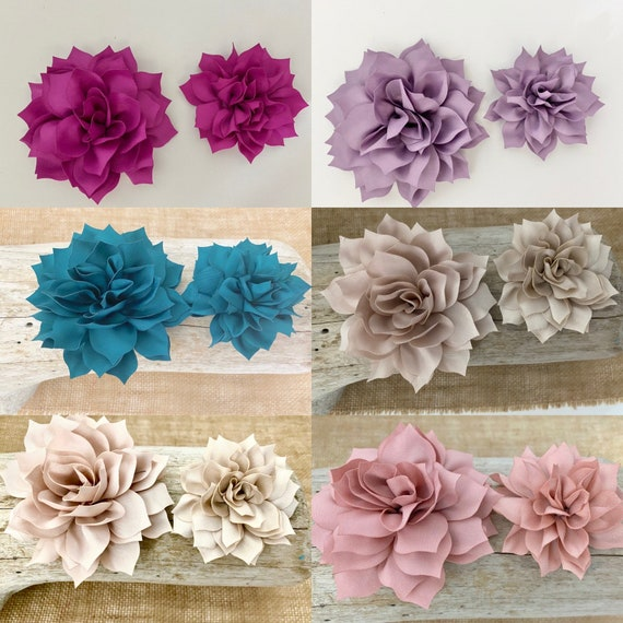 Floral Hair Clips, Flower Girl Hair Accessories, Wedding Bridal White Flower Clip, Blush, Taupe, Dusty Rose, Cream, Champagne Flower clips,
