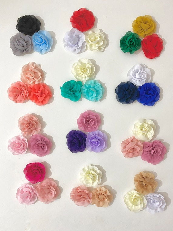 Baby Hair Clips, 3 Piece Set,Baby Shower Gift for Girl, Baby Clips, Flower Girl Hair Clips, All Colors, White,Ivory,Blush,Pink,Dusty Rose,