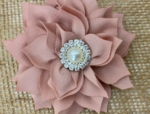 Baby Flower Hair Clips, Dusty Pink Rose Clip, Taupe Hair Clip, Beige Flower Clip, Burgundy Hair Clip, Red Hair Clip, Bridal Flower Girl Clip
