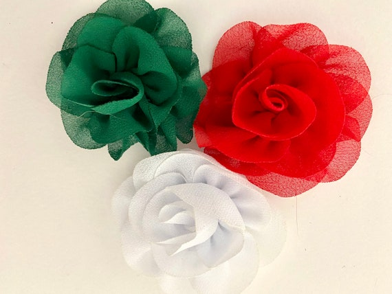 Christmas Hair Bows Set of 3, Red, Green,White Hair Clip Set, Baby Christmas Flower Clips, All colors, Gold, Blue, Purple, Lavender, Iv