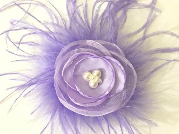 Lavender Flower Clip, Spring Flower Floral Hair Clips, Flower Girl Hair clip, Bridal Hair Clip, Baby Flower Clip,
