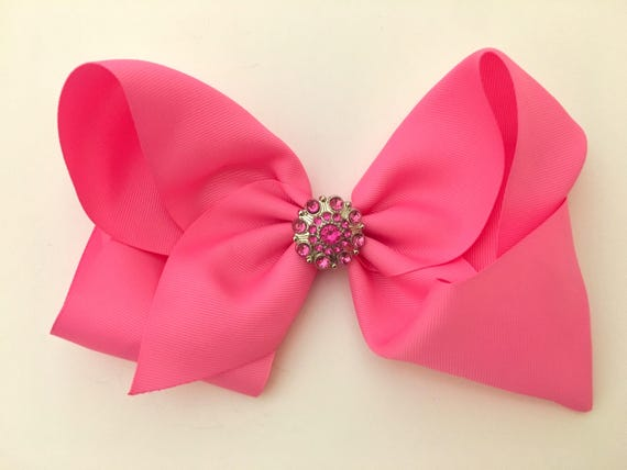 Hair Bow for Girls, All colors, Rhinestone Hair Bow, Hot Pink Hair Bow, Purple Hair Bow, Lavender Hair Bow, Rhinestone Hair Bow, Birthday