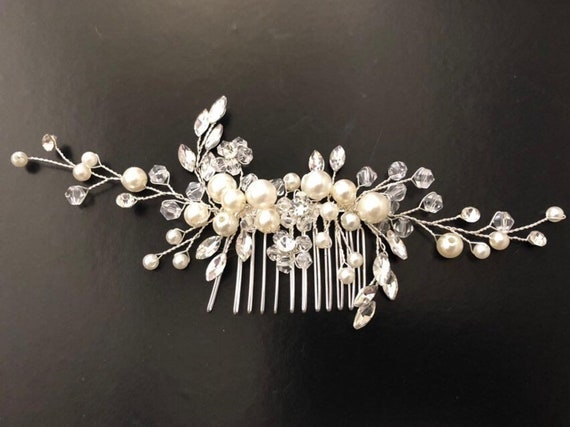 Bridal Hair Comb, Wedding Crystal Comb,Pearl Hair Comb, Vintage Inspired Wedding Hair Comb, Crystal Hair Jewelry, Bridal Headpiece, Wedding