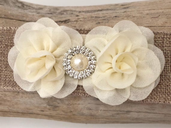 Floral Baby Hair clip, Ivory Cream Hair Clip, All Colors, White, Pale Pink, Blush, Coral, Mint Flower Pearl Clip, Baptism Headband