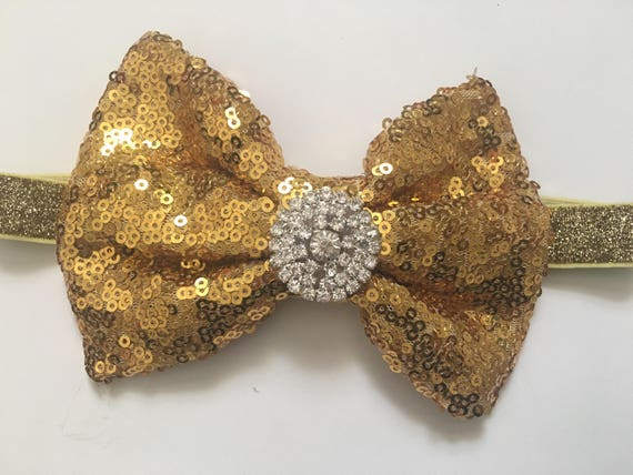 Gold Headband, Boutique Baby Headband, Gold Hair Bow, Silver, Black, Red Bow, Royal Blue Hair Clip, Dance Costume Hair piece, Birthday Clip