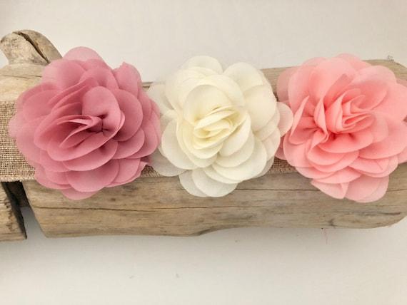 Flower Girl Hair Clip, Ivory Flower clip, Flower Hair Clip, Dusty Rose Pink Clip, Peach Pink Hair Clip, Bridal Hair Clip, Floral Hair Clip,