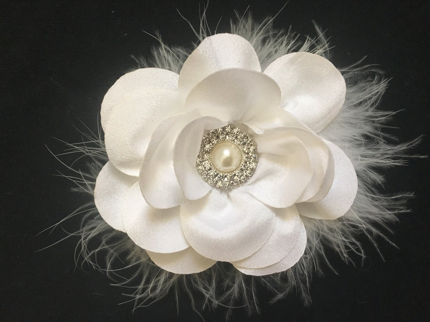 Flower Girl Hair Accessory White Ivory Gray Mint Navy Pink