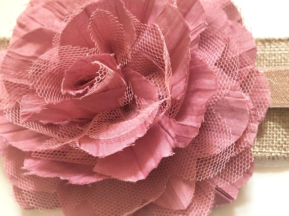Dusty Rose Hair Clips, Dusty Rose Flower Clips, Wedding Flower Bridal Hair Clips, All Colors, Customize Big Flower Clips, Chiffon Mesh Clips
