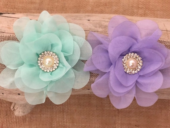 Spring Wedding Hair Accessories, All Colors, Lavender Hair Clip, Mint Flower Hair Clip, Kentucky Derby Clip, Spring Flower Girl Crown