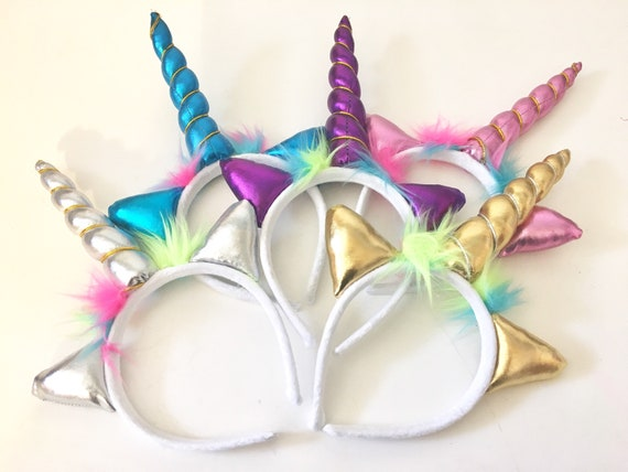 Unicorn Headband by the dozen, Unicorn Birthday Party, Metallic Rainbow Unicorn, Unicorn Birthday Flavor Birthday Party Flavor