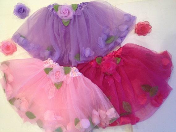 Flower Tutu, Newborn-Toddler Tutu, Ballet Tutu, Pink, Hot Pink, Lavender, Turquoise Tutu,  Baby Gift, Baby Shower gift, One size, Birthday