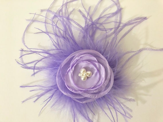 Floral Lavender Clip, Lilac Floral Hair Clip, Flower Girl Hair Accessories, All Color Floral Clip for Girl, Bridal Floral Clip, Wedding Clip