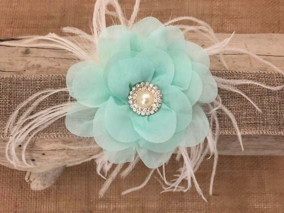 Mint Floral Hair Clip, Lavender Flower Hair Clip, Spring Wedding Hair Acessories, Flower Girl Clip, Easter Hair Clip