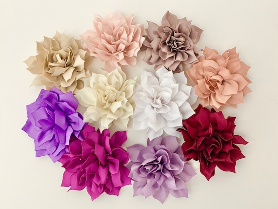 Wedding Flower Hair Clip Bridal Floral Clips, Beige,Taupe, White,Black, Champagne, Blush, Raspberry,lilac  Hair Clips,Flower Girl Clips