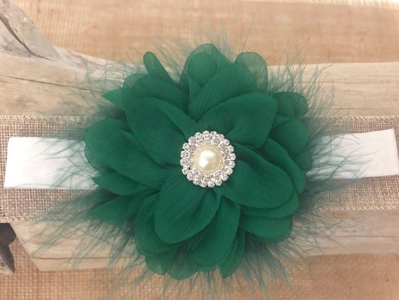 Green White Hair Clip Christmas Green Headbands Emerald White Flower Clip,Christmas Hair Clip,Emerald Green Bow Christmas Hair Bows