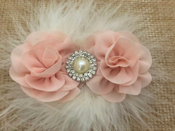 Blush Pink Flower Hair Clip, Rose Gold  Hair clip, Ivory clip, White clip, Dumb Pink clip, Dusty Rose Flower Girl Hair Clip, Wedding Flower