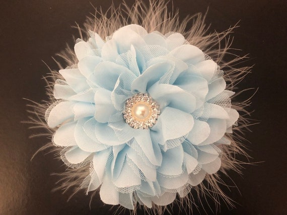 Blue Flower Hair Clip, Baby Blue Clip, Kentucky Derby Fascinator, Wedding Flower Clips, All Colors, White Fascinator, Blush Coral, Pink Clip