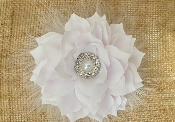 White Flower Hair Clips, Communion Flower Clip, Wedding Flower Clip, Ivory, Blush, Champagne, Dusty Pink Rose,Taupe Wedding Hair Accessories