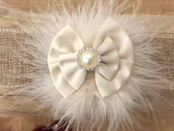 Ivory Hair Bow,Satin Hair Bows,Ivory Bow,Pink Satin Bow, Baby Blue Satin Hair Bow, Beige Satin Bow, Christmas Hair Bow