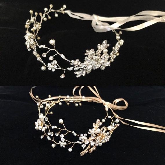 Flower Crown Wreath, Silver Crown Wreath,Gold Crown Wreath, Crystal Crown Wreath,Communion Crown Wreath,Flower Girl Crown