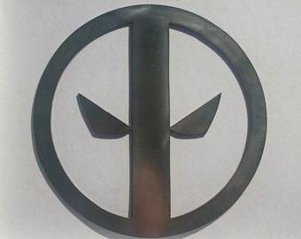 Deadpool Metal Sign