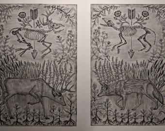Invasive - Intaglio Print