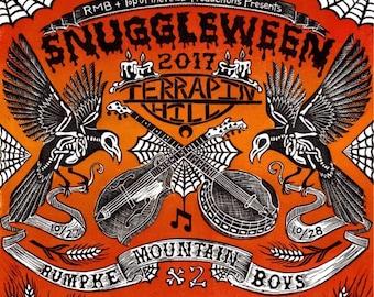 Snuggleween Linocut Print - Rumpke Mountain Boys