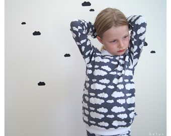 Kinder Wolken Schlafanzug grau weiß,Pyjama Junge,Schlafanzug Mädchen,unisex  Kindernachtwäsche,weiß,unisex Kinder Schlafanzug,Wolken Shirt 3aceaa9e71