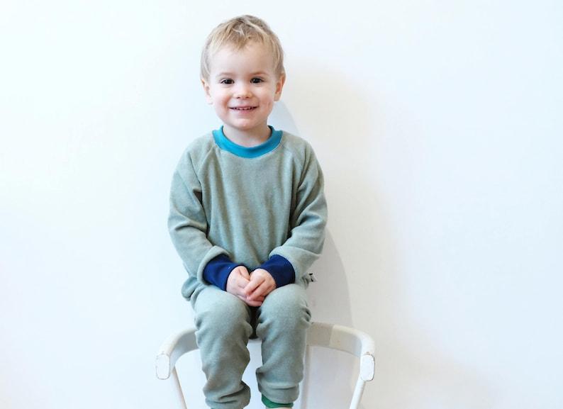 08ab492a3c14 Kids pajamas organic cotton terry greentoddler