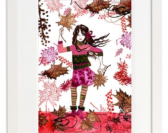 Set of 4 Art Poster Prints - 4 Seasons of Jasmin