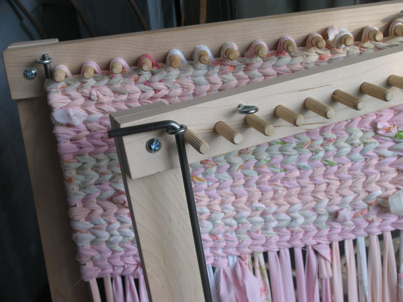 Twining Loom For Place Mats