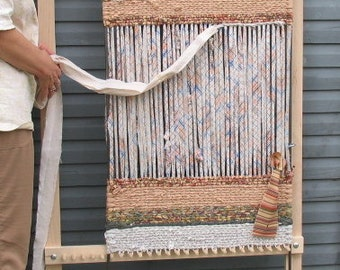 LOOM: Adjustable Twining Loom For Rugs, Place Mats or Table Runners in Solid Maple, Hand Made in Pennsylvania