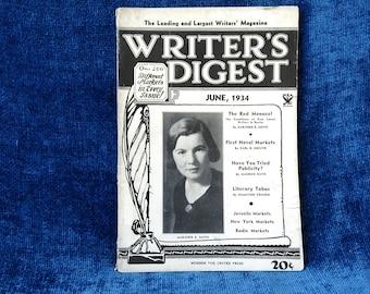 Writer's Digest June 1934 Magazine