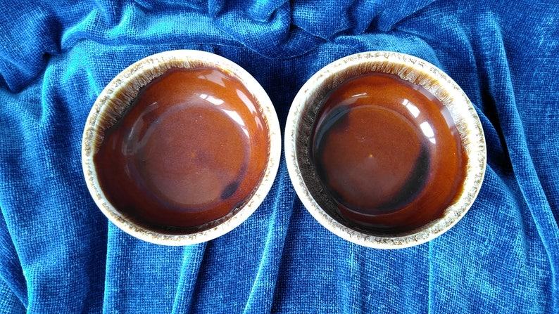 Kathy Kale Brown Drip Bowls 5 14 Set of 2