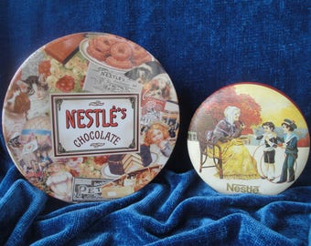 Nestle Chocolate Tins 2 Candy Canisters