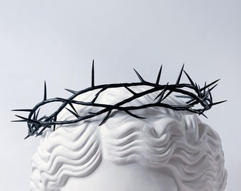 Crown of thorns / thorn crown / thorn branch / wreath / black crown of thorn / thorn tiaras / polymer clay jewelry / handmade jewelry