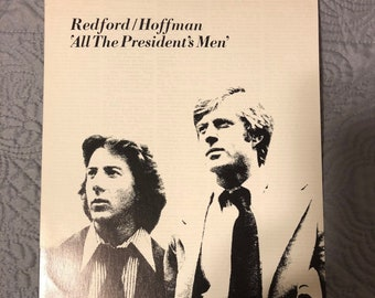 Original 1976 All the President's Men' Press/Promotional Sheet, Dustin Hoffman, Robert Redford