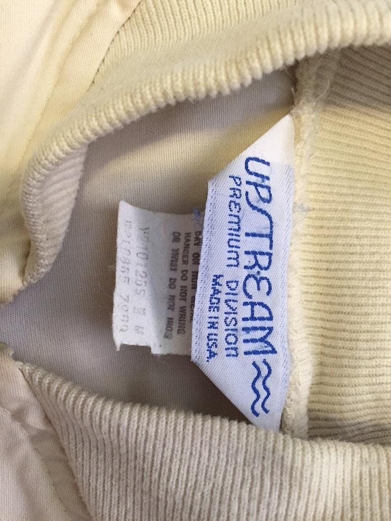 White VintageRetro 70s Union Pacific Upstream Light Weight Jacket Size Medium