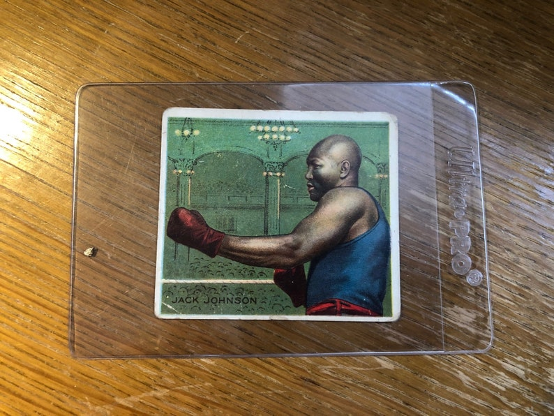 Vintage 1910 Jack Johnson Hassan Tobacco Boxing Card