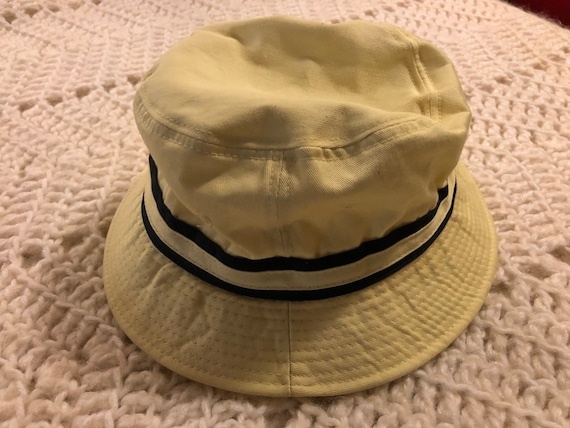 410d2860316 Vintage Izod Club Yellow Bucket Style Hat