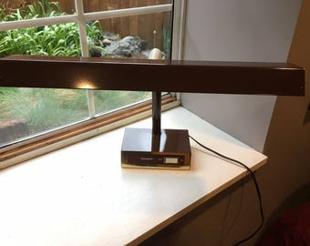 1970s Tensor Brown Fluorescent Desk Lamp, Model FL2021